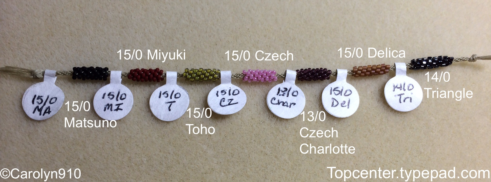 Beads for Braiders Info-torial #4: Size 15/0 seed beads