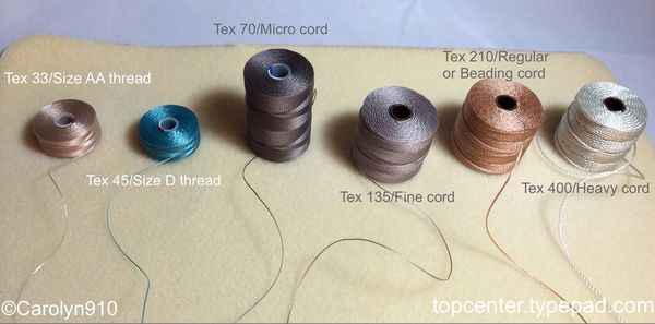 Chocolate C-Lon Nylon Size D Thread