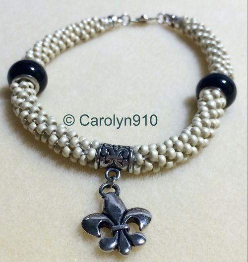 Silver fleur bracelet