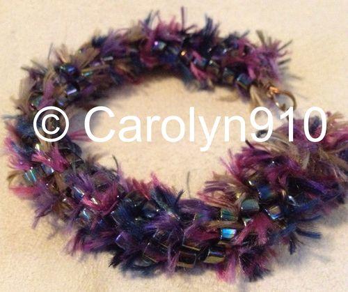 Purple Fuzz bracelet